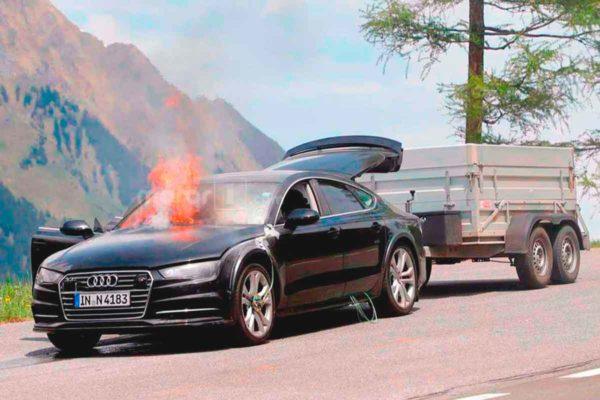 Новый прототип от Audi сгорел целиком