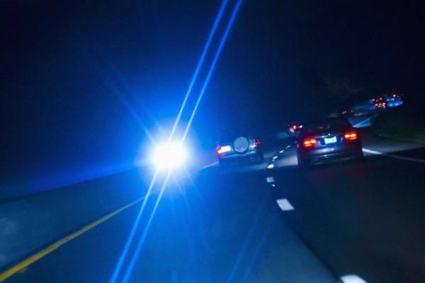 Ослепления светом фар встречного авто