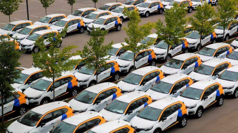 Машины из каршеринга в Москве